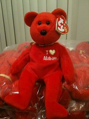 AUTHENTIC NWMT ALABAMA ORIGINAL BEANIE BABY EX-TY AUTHORIZED RETAILER STOCK