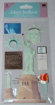 JOLEE'S STATUE OF LIBERTY NEW YORK 3D STICKERS EMBELLISHMENT