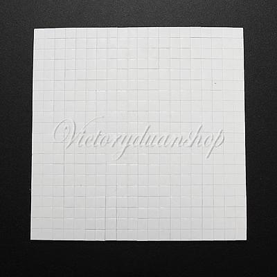400 Double Sided Adhesive Foam Pads Sticky Fixers For Card Craft Making 5x5x3mm