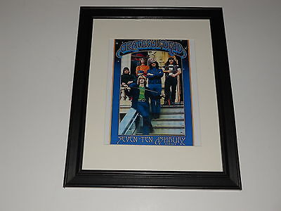 "Framed Grateful Dead 710 Ashbury Group Shot 1967 Mini-Poster, 14"" by 17"""