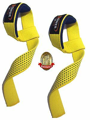 BAR STRAPS Gel Padded Weight Lifting Straps Heavy Duty Crossfit, STEALTH Straps