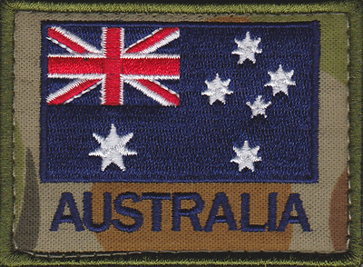 ADF Auscam Backed Australian Flag velcro Patch Army Military SAS Commando