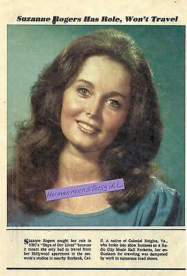 1974 SUZANNE ROGERS TV GUIDE AD CLIPPINGS DAYS OF OUR LIVES LG FULL PG