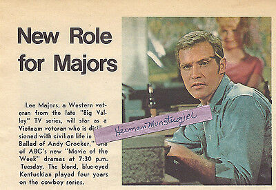 1969 LEE MAJORS TV GUIDE COLOR AD CLIPPING THE BALLAD OF ANDY CROCKER