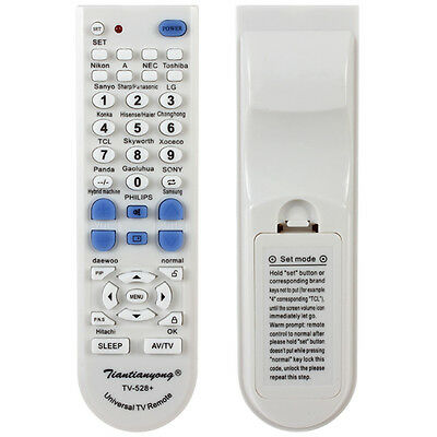 Universal White Portable TV Remote Controller for SONY / SHARP / SAMSUNGetc