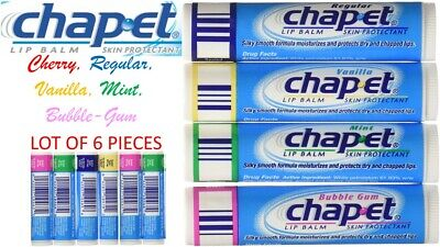 Genuine CHAP-ET LIP Balm CheapEt (Lot of 6) Assorted Flavor Made in USA Fresh