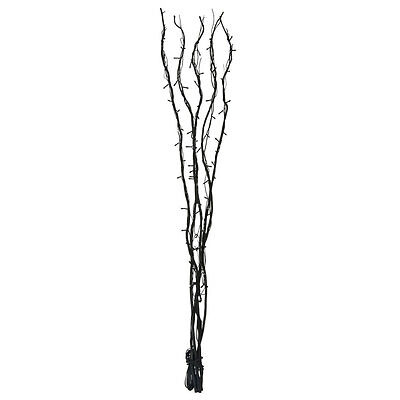 Large 120cm Black Twigs Branch Twig Lights Floor Lamp with 80 White Fairy Lights