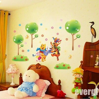 Winnie The Pooh Tiger Friends Wall Stickers Decal Kids Baby Nursery Room Decor