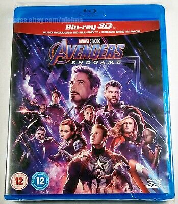 AVENGERS: ENDGAME New 3D + 2D BLU-RAY 3-Disc Set MCU Marvel SHIPS NOW From USA