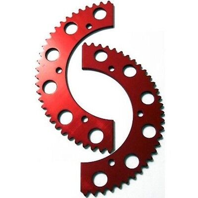 83T Tooth #35 Chain Split Sprocket Two 2 Piece Gear Racing Go Kart Drift Trike