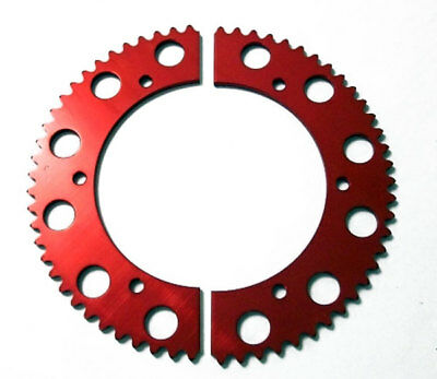 64T Tooth #35 Chain Split Sprocket Two 2 Piece Gear Racing Go Kart Drift Trike