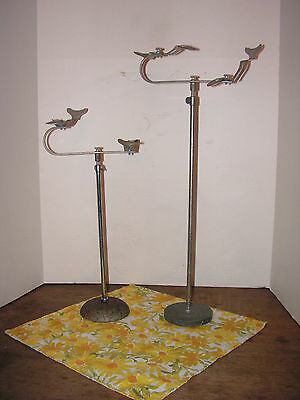 2 Antique Shoe Store Display Stand Mid 1800's