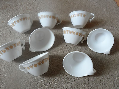 9 Vintage Corelle Butterfly Gold Hooked Cups