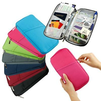 Travel Wallet Passport Holder Credit Card Case Document Ticket Organizer Bag JJ