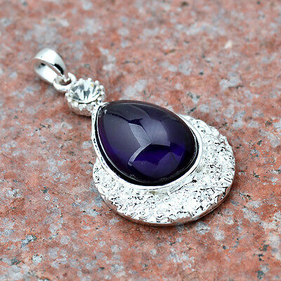LATEST FASHION JEWELRY Sapphire GEMSTONE S80 SILVER PENDANT       &A585