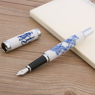 Jinhao 950 Blue And White Porcelain Dragon Medium Nib Fountain Pen
