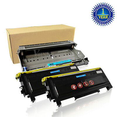 2x V4INK TN350 Toner + DR350 Drum for Brother DCP-7020 HL-2070N MFC-7420 Printer