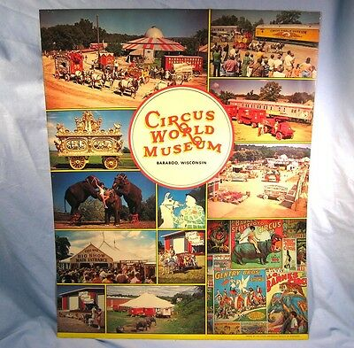Vintage CIRCUS WORLD MUSEUM 1960's Poster Baraboo, Wisconsin