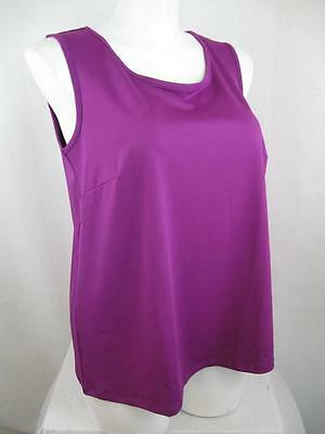 Catherine's Plus Size Polyester/Spandex Solid Color Scoop Neckline Tank Top