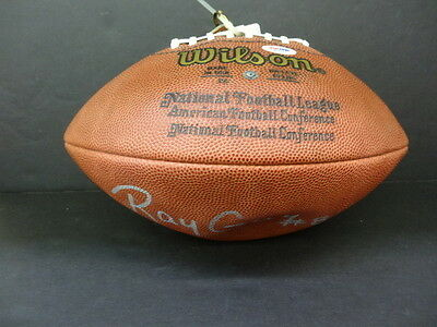 Ray Guy Signed Wilson NFL Official Football Autograph Auto PSA/DNA X84044