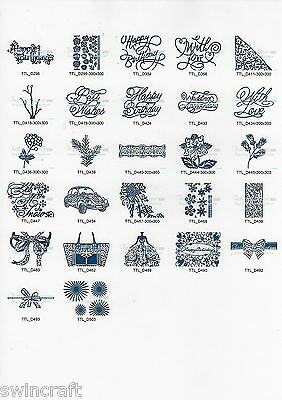 Tattered Lace Cutting Dies WORDS SENTIMENTS 1 Stephanie Weightman LATEST DESIGNS