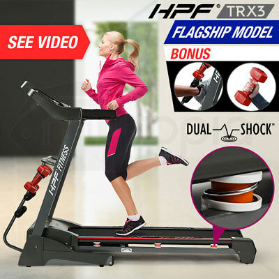 New HPF Electric Treadmill Exercise Fitness Equipment Incline Home Gym Machine