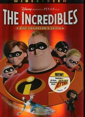 The Incredibles (DVD, 2 Disc Collector's Edition Widescreen) Disney Pixar