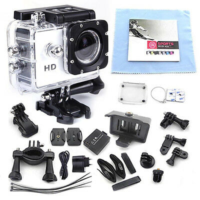 White 12MP FULL HD 1080P Car Bicycle Sport DV Waterproof Camera DVR Camcorder DQ