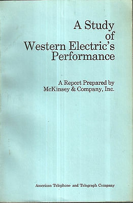 A Study of Western Electric's Performance 1969 Western Electric Telephones