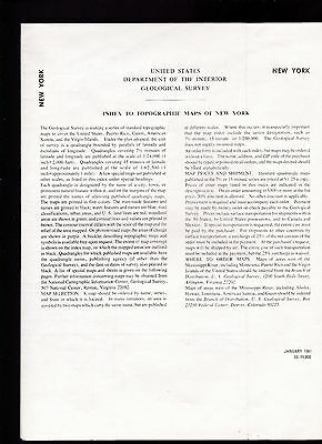 Index to Topographic Maps of New York US Dept of Interior 1981