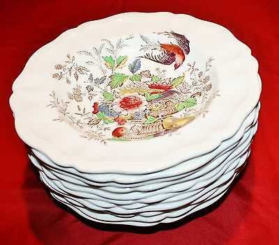 Royal Doulton Hampshire D6141 Rim Soup Bowls - Set of 12 - MINT