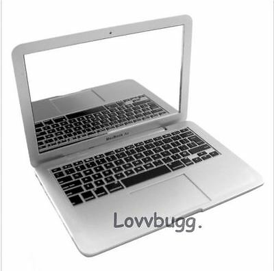 """Mini Macbook Air Laptop Computer for 18"""" American Girl Doll Widest Selection"""