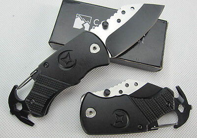 Survival Hiking Camping Gear  Multi Function Tool Folding Key Chain Knife