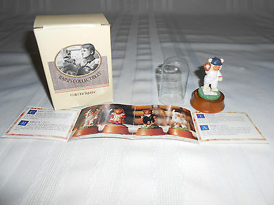 ROBERT RAIKES ORIGINAL TEDDY BEAR COLLECTIBLE~MINI CASEY BASEBALL FIGURINE~NIB