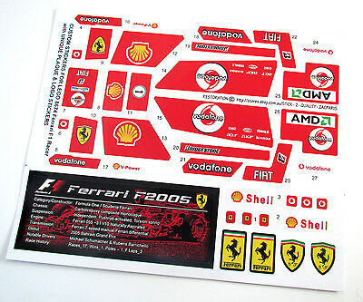 CUSTOM DIE CUT STICKERS for LEGO 8674 Ferrari F1 Racer + LOGO & PLAQUE STICKER