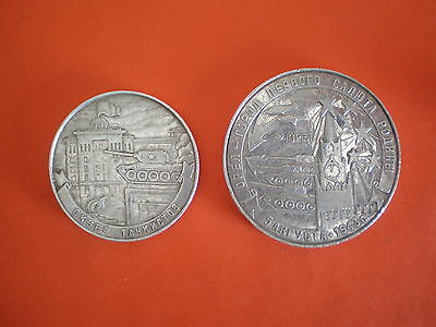 Lot of two Russian military commemorative medals/plaques City of Eagle - rare