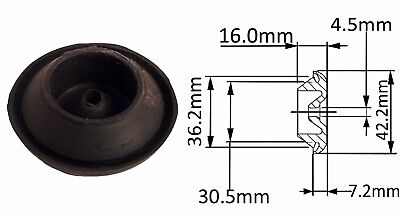 Original 30.5mm Lucas Black Rubber Wiring Grommet  : Part No. 51150161