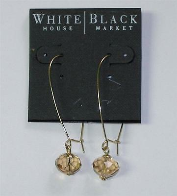 White House Black Market Linear Glass Crystal Drop Earrings