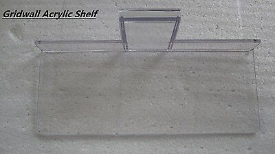 "Get 15 Gridwall Acrylic Shelves Gridwall Panel Shoe Display Fixture 10""x4"" New"