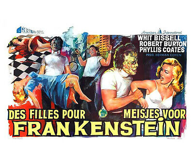 Glossy 8X10 Movie Poster #00 - I Was A Teenage Frankenstein (1957)