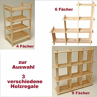 viele farben hochglanz 3 tlg b cher regal wand ablage holzregal haushaltsregal. Black Bedroom Furniture Sets. Home Design Ideas