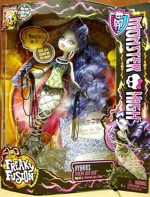 Monster High SIRENA VON BOO! Freaky Fusion! Mermaid and Ghost Hybrid!