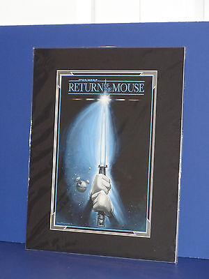 """The Art Of Disney Greg McCullough """"Return Of The Mouse"""" Matted Art  14x18 New"""