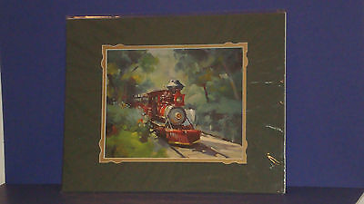 """The Art Of Disney George Scribner """"Frontierland Approach"""" 14x18 Matted New"""