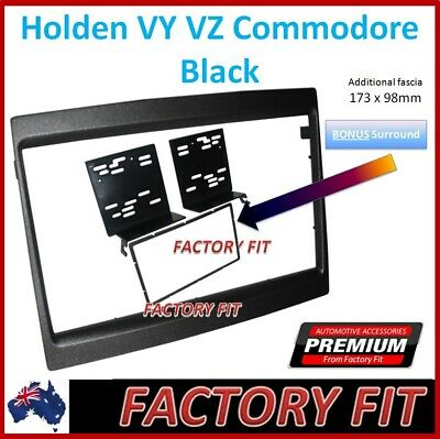 +For Holden Commodore VY VZ Fascia Kit Double Din Stereo Surround Dash Trim Kit