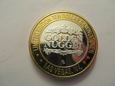Golden Nugget, Las Vegas, $10 Limited Edition Silver Gaming Token