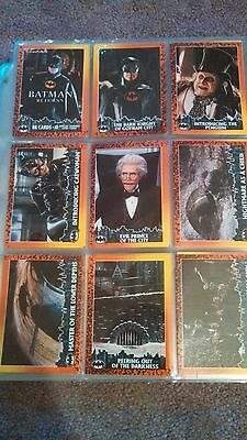 1992 Topps Batman Returns Collector Trading Card Set of 88