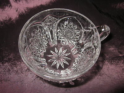 Antique EAPG 1904 duncan miller Glass Co. Homestead punch cup