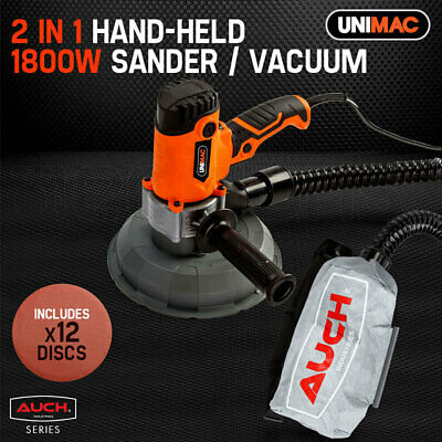 NEW UNIMAC Drywall Sander 1800W with Automatic Vacuum System -  Gyprock Plaster