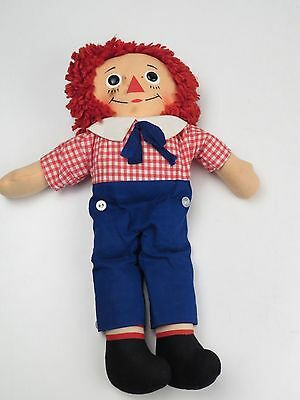 "VTG Knickerbocker Doll Toy Co.16"" Raggedy Andy Doll All Original Tags And Box"